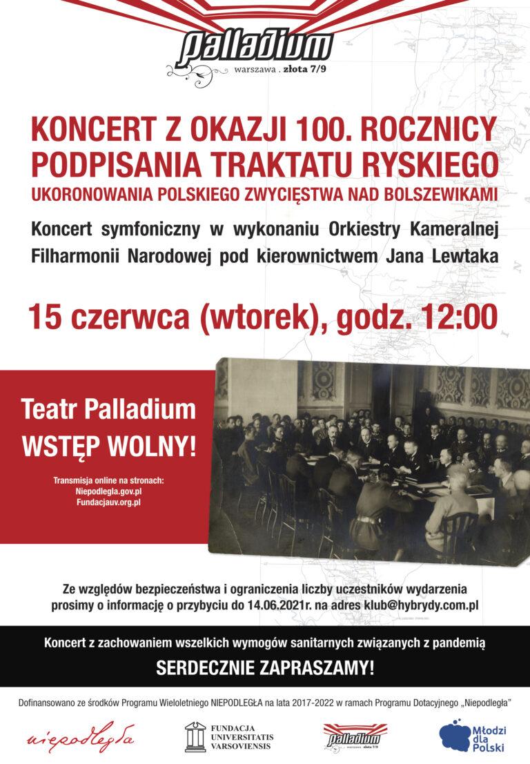 Koncert z okazji 100. Rocznicy odpisania Traktatu Ryskiego