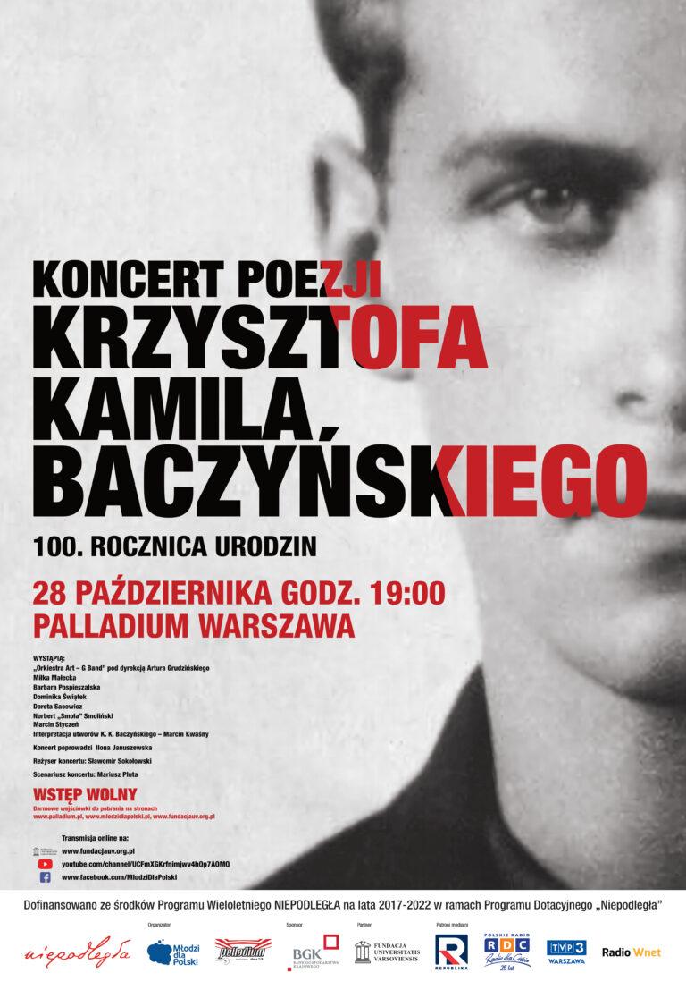 Koncert poezji Krzysztofa Kamila Baczyńskiego